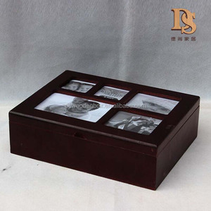 Luxury Personalized Keepsake Box Distressed Wedding Family Memory Wooden Photo Storage Box