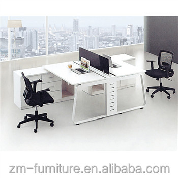 Classical T Shape Two Person Workstation Work Station Desk Dividers