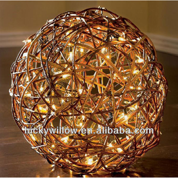 Woven Colorful Large Decorative Wicker Ball Buy Wicker Ball New Rattan Decorative Balls