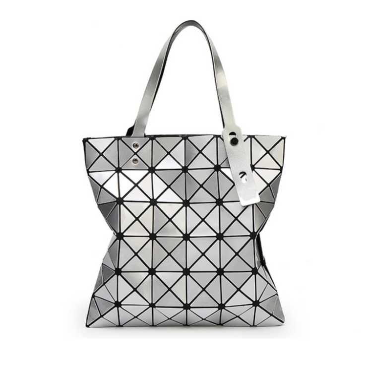 woman girls zipper sequin sublimation hologram diamond tote hand bag