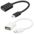 Hot! Wholesale High Quality Micro USB Mobile Phone OTG Connect Kit Cable
