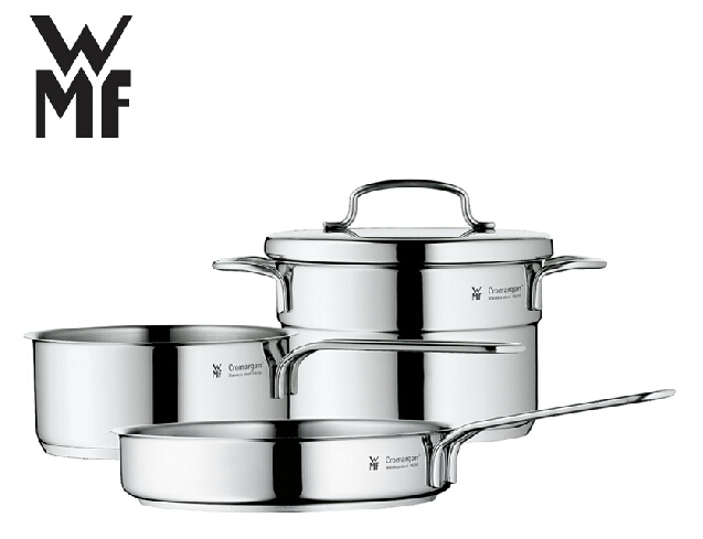 free shipping wmf mini stainless steel cookware 3 piece set casseroles frypan special for baby. Black Bedroom Furniture Sets. Home Design Ideas