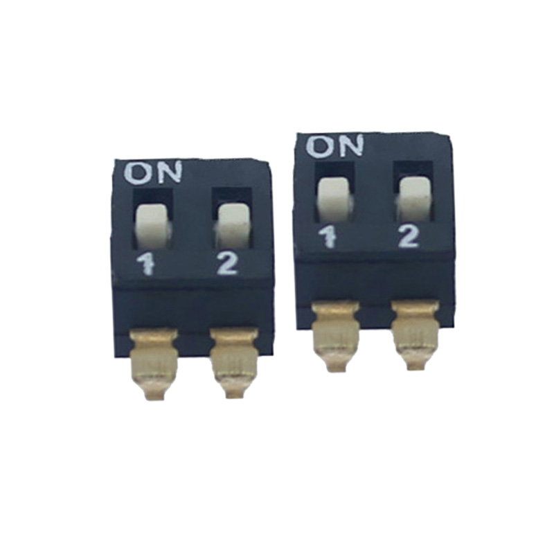 SPST SMD 2 Positions Dip Switch Recessed Raised Actuator, View 2 ...