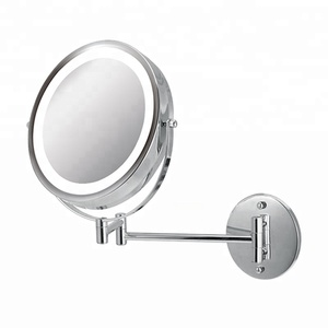 8.5 inch fancy metal wall mirror for bathroom with led light(D8522)