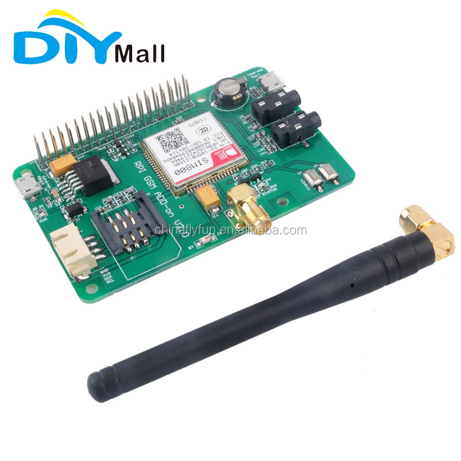 SIM800 GSM GPRS V2.0 Message Module Expansion Board Quad-Band 850/ 900/ 1800/ 1900 MHz for Raspberry Pi