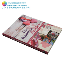 Cheap price case bound coloring knitting reference book printing