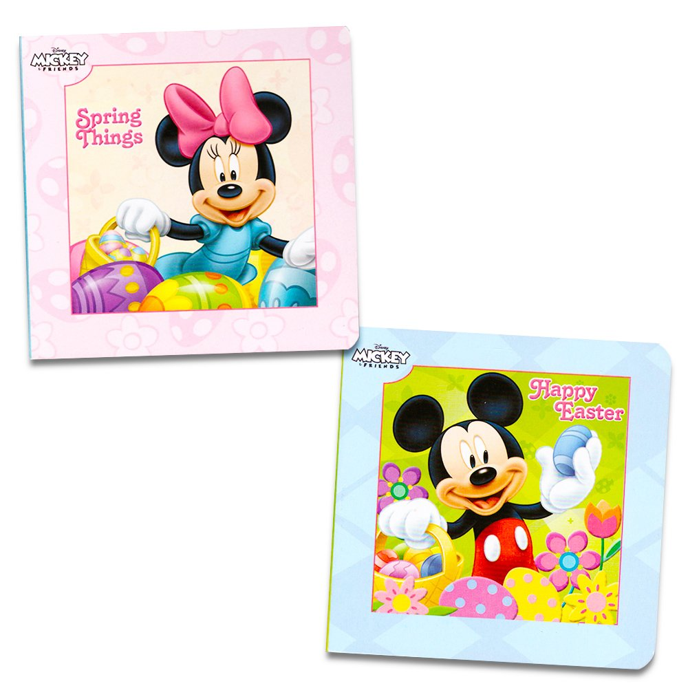 Disney Mickey Mouse and Minnie Mouse Easter Board Book Set For Kids Toddlers (Set of 2 Chunky Mini Board Books)