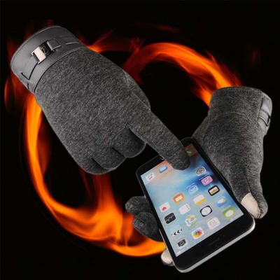 D1368 Men Business Warm Outdoor Sports Bicycling Touch Screen Gloves
