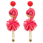 New arrivals hot sale glass acrylic seed beads flamingo earrings animal jewelry