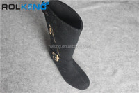 women boot embroidered felt fabric