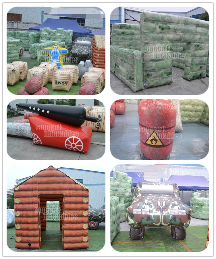 68pcs Camouflage Paintball Arena, Aufblasbare Laser Tag Paintball Bunker