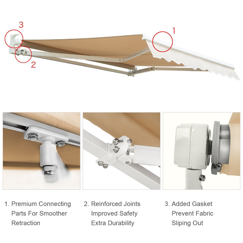 Waterproof Retractable Awning, Waterproof Retractable Awning Suppliers And  Manufacturers At Alibaba.com