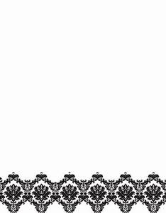 "Black & White Damask Letterhead, 2-Sided, 8.5""x11"", 50/PK"