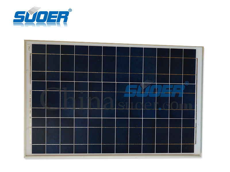 Suoer 50w 18v Flexible Poly Solar Power Cell Panel with CE ROHS