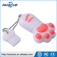 USB 2.0/3.0 Flash Memory 1GB 2GB 4GB Cats Paw PVC Mini U Disk for Children