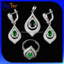 China Wholesale Fashion Crystal India Luxury Bridal Jewelry Set/Women's Cubic Zircon Necklace CZ 925 Sterling Silver Jewelry Set