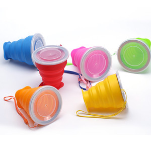 Foldable reusable coffee camping drink cup silicone collapsible travel cup
