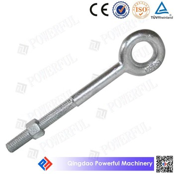 Carbon Steel Drop Forged G291 Regular Eye Bolt with Nut
