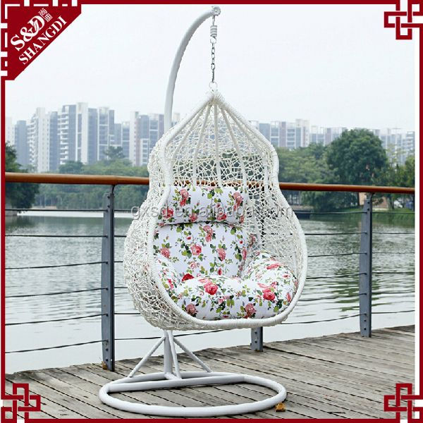 SD lageniform shaped garden outdoor swing chair bed