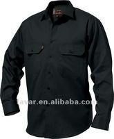 2012 Man's Perfect Long Sleeve Open Front Drill Shirt