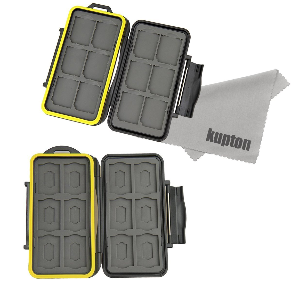 Kupton Memory Card Case Holder Water-resistance Storage Protector Box: 12 Slot + 24 Slot for SD Mrico SD SDHC SDXC Memory Card