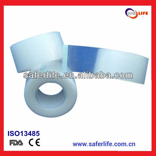 2015 breathable hypoallergenic latex free Waterproof Medical Adhesive Tape Transparent Medical Tape Offered Surgical Pe Tape Sel
