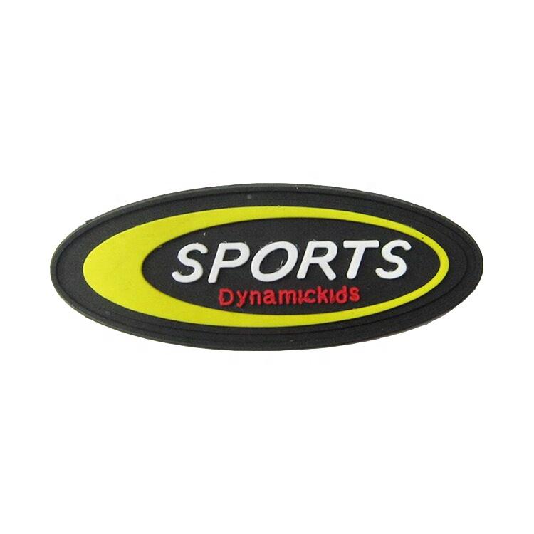 Personalizado Pvc etiqueta de la ropa parche 3D logotipo Logotipo de goma para la Ropa Decoración