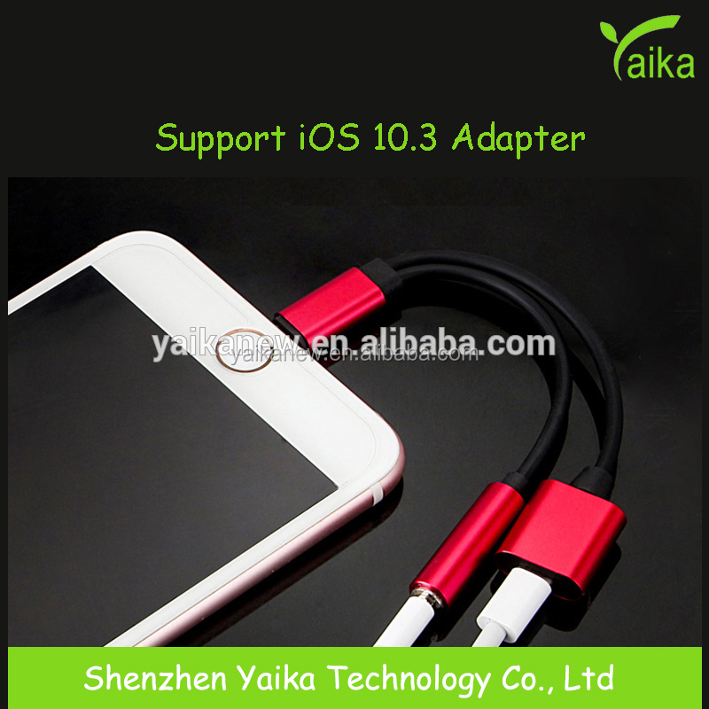Yaika Support 10.3 <strong>System</strong> 2 in 1 Charging Audio Adapter For i7 to 3.5MM Headset Jack Charger