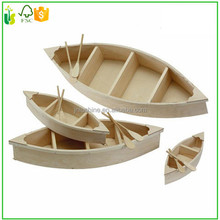 Christmas Gift Craft Wood Carving Boat With Oars
