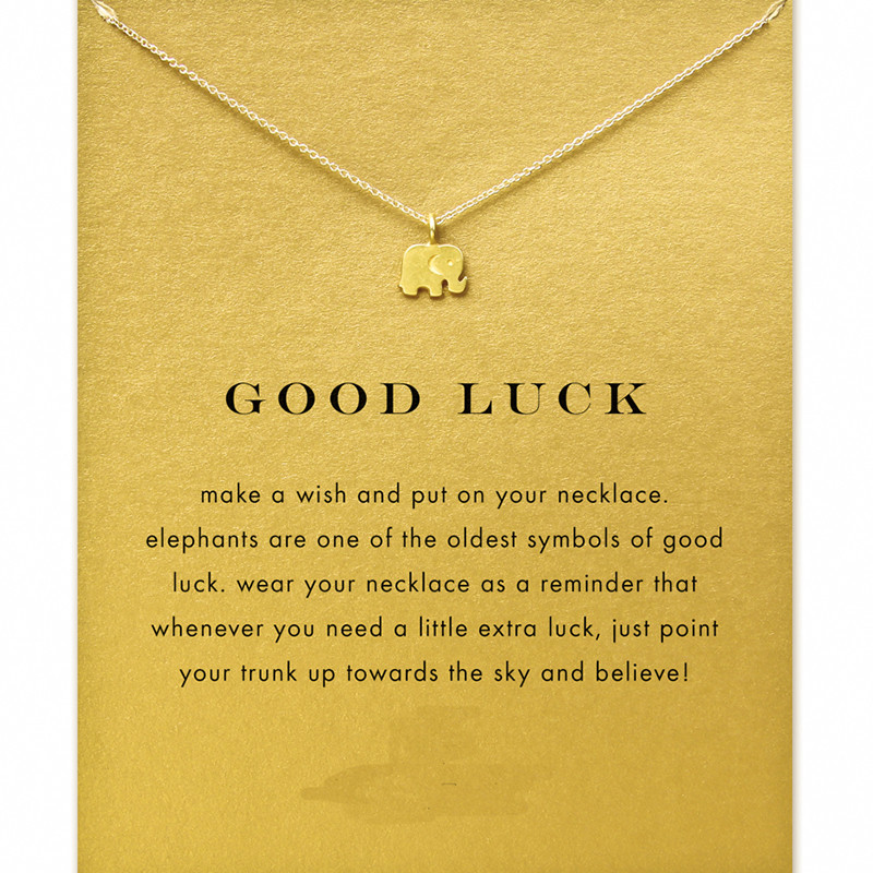 Good luck elephant Necklace Gold Lucky Elephant Necklace for women girls