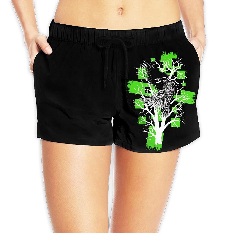 d56e6b5ee6 Get Quotations · Kurabam Beach Volleyball Shorts, Eagle in The Tree Beach  Lounge Shorts for Women Girls,