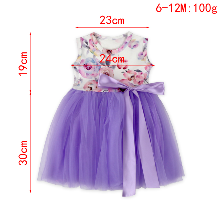 Beautiful Sleeveless Flower Girl Tulle Summer Dress With Big Satin Bow