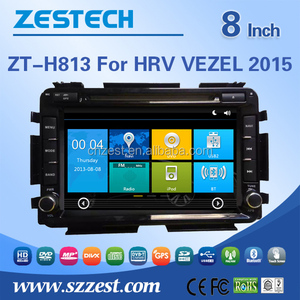 car dvd player tv tuner For Honda HRV/VEZEL 2015 touch screen 2 din auto car audio radio player WITH DVR OBD DTV 3G wifi
