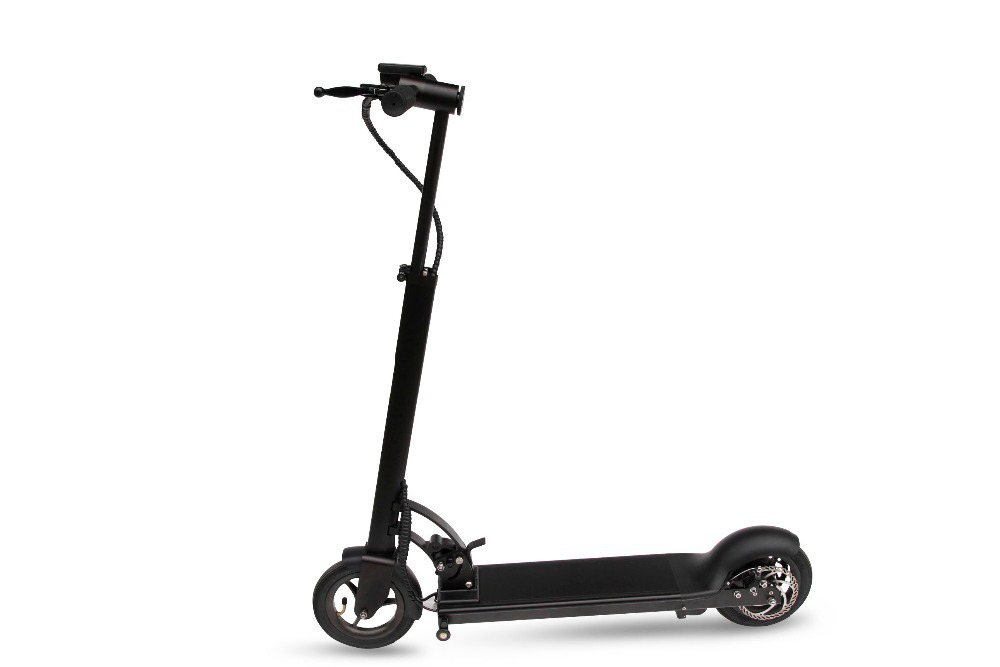 freelander x7 foldable black electric scooter motorized ride on rechargeable battery 300w kids. Black Bedroom Furniture Sets. Home Design Ideas