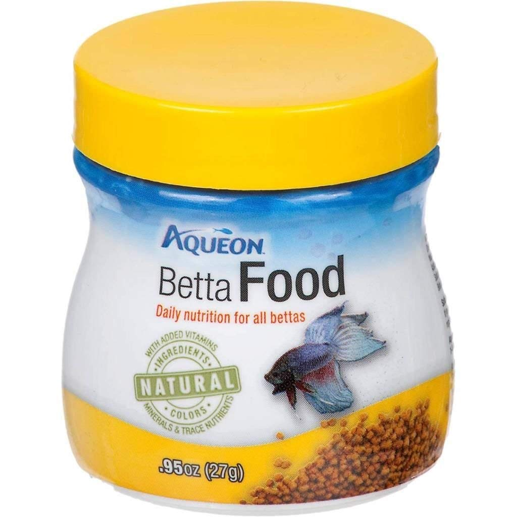 Aqueon Natural Betta Fish Food .95oz Premium Ingredients