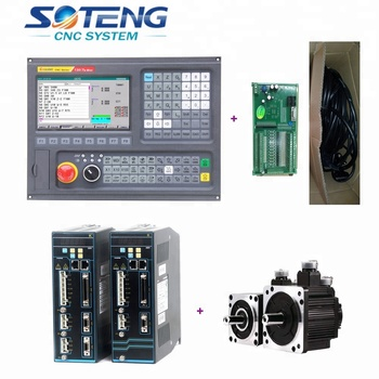 Good Selling 2 Axis Lathe Cnc Controller Kit With 1 5kw Absolute Servo Systems