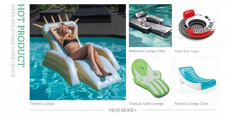 PVC Inflatable Folding Plastic Pool Lounge Chair