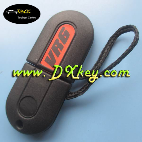 "Competitive price transponder key shell with light with ""VR6"" writing on cover for key vw"