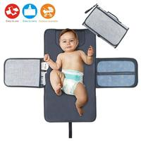 Diaper Changing Pad Baby Portable Changing Station Diaper Change Mat with Head Cushion Lightweight Travel Home Diaper Changer Ma