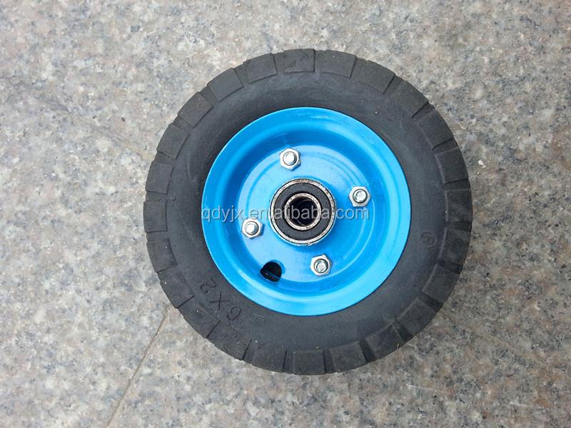 Pouces naturel caoutchouc pneu chariot roues solide pouces caoutchouc roue roulettes roue 150mm - Roue caoutchouc chariot ...