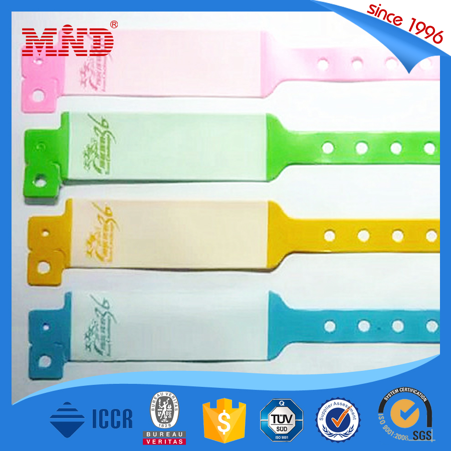 MDPW14 Custom Design One Time Use Disposable passive RFID chip Wristband for Event