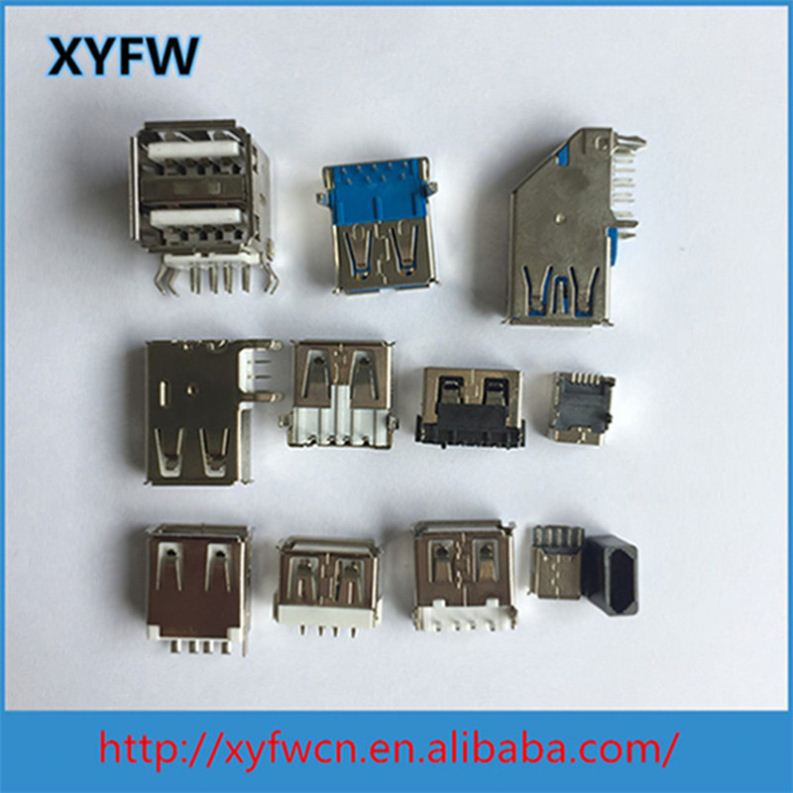 Hot Sale Internal Soldering Usb Connector Straight Pinout