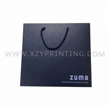 Customized Logo Print Paper Bags Rope Handle