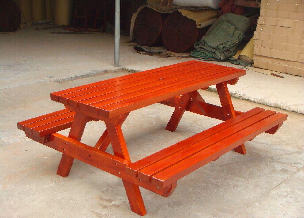 Neue Design Holz Picknick Garten Ess Set Holz Tisch Und Bank Für Picknick Im  Freien