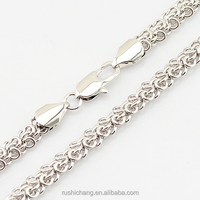 5mm Trendy Men Jewelry Womens Boys Cable Link Chain White Gold Plated Filled Necklace Jewelry
