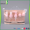 Best quality Bottle Dispenser cosmetic travel kit hotel travel set with PVC bag