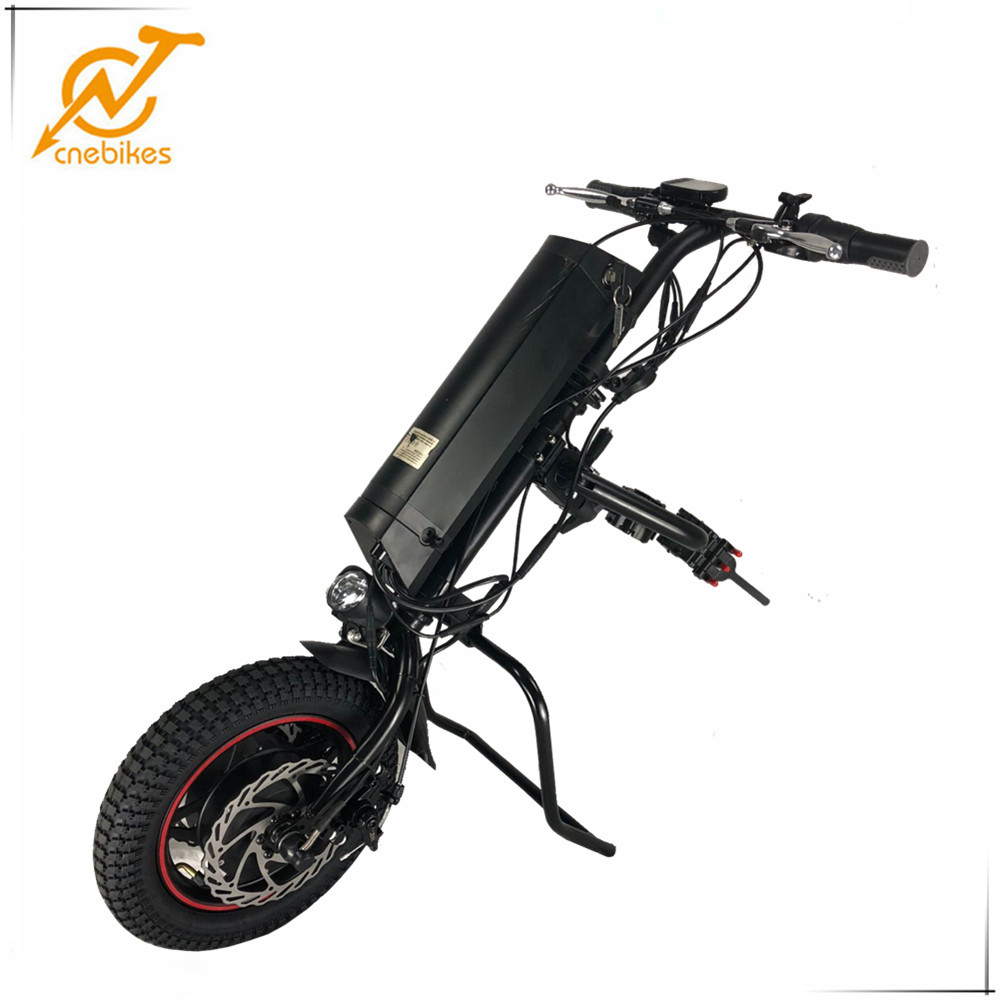 CNEBIKES 36v 350w attachable electric wheelchair electric wheelchair handycle with 36v 11.6ah battery