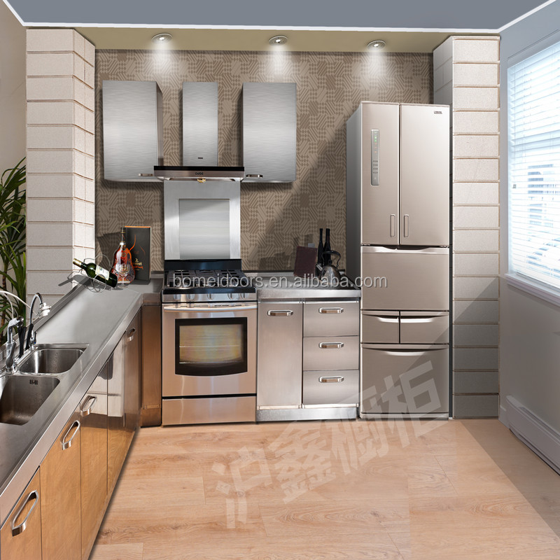 Kitchen Cupboard Modular Kitchen Cabinet Stainless Steel Kitchen - Buy  Stainless Steel Kitchen Cabinet,Modern Kitchen Cabinets,Modular Stainless  Steel ...