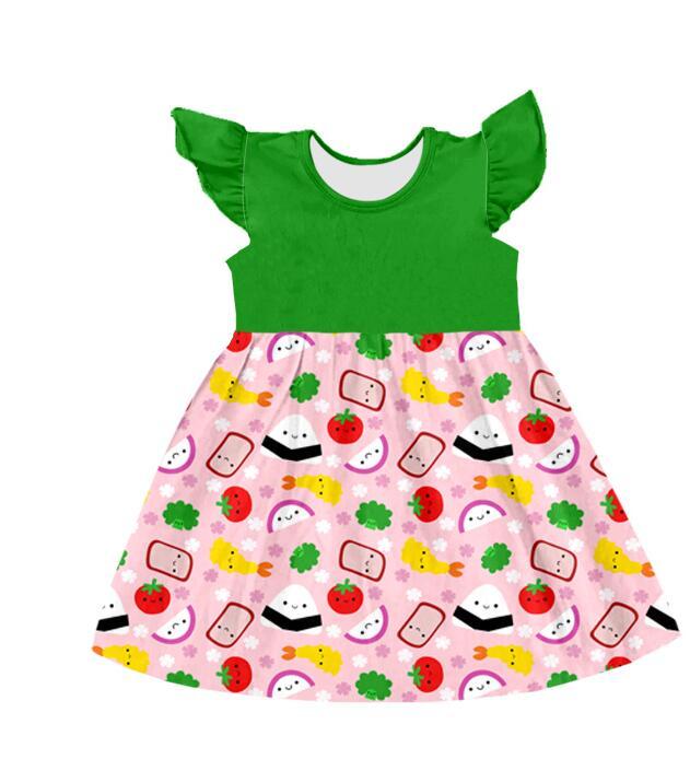 2018 verão bebê criança arco-íris vestidos de festa adorável desgaste das crianças roupas
