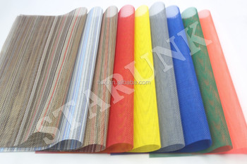 Many types and colors of cheap PVC fabric mesh